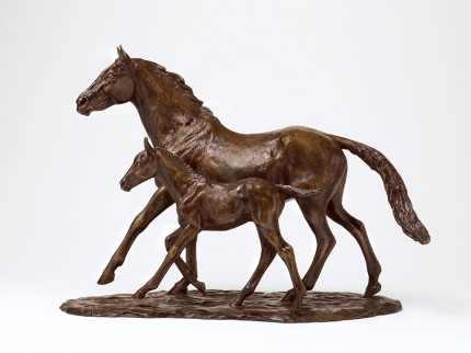 Thoroughbred Mare & Foal, Bronze, Edition of 9, 33 x 47 x 20 cm