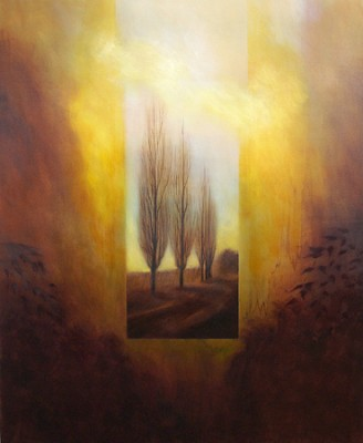 """""""Remembrance"""" Oil on canvas, 66 x 54 inches, Signed"""