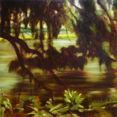 """""""River Branches"""" Oil on canvas, 30 x 30 inches, Signed"""
