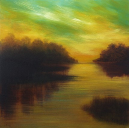 """""""Sky Scape #3"""" Oil on canvas, 30 x 30 inches, Signed"""