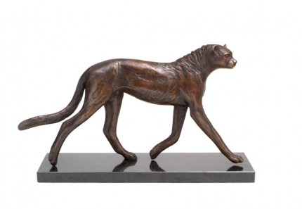 Young Cheetah, Bronze, Edition of 9, 44 x 25 x 13 cm