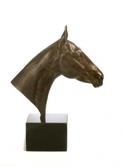 Polo Pony Bust, Bronze, Edition of 9, 40 x 30 x 12 cm
