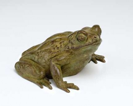 Toad, Bronze, Edition of 12, 6 x 12 x 7 cm