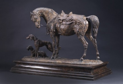 """""""Grace and Danger"""" Bronze, Edition of 12, 21.7 x 30.7 inches"""