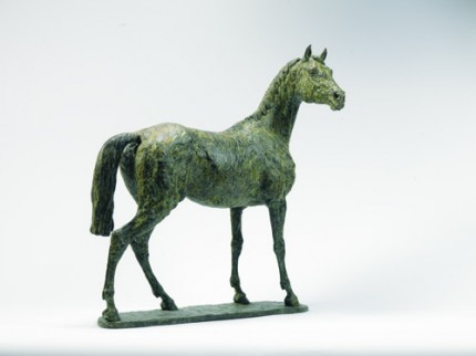 """""""Thoroughbred"""" Bronze, Edition of 12, 21.7 x 18.9 inches"""