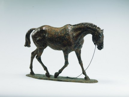 """""""Tired Hunter"""" Bronze, Edition of 12, 11 x 17.3 inches"""