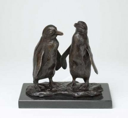 Jackass Penguins, Bronze, Edition of 9, 21 x 23 x 11 cm