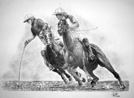 """La Redondilla"" Charcoal on paper, 40 x 55 inches, Signed"