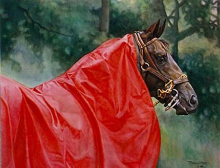 """The Red Rain Sheet"" Watercolour, 18 x 24 inches"