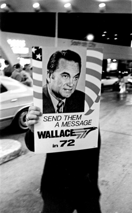 Signbearer for George Wallace, Democratic Convention Miami Beach, 1972