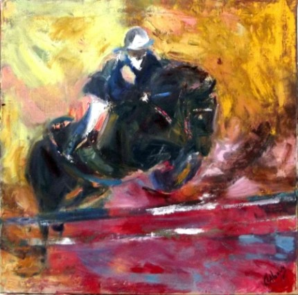 """""""Jumping"""" Oil, 50x50"""