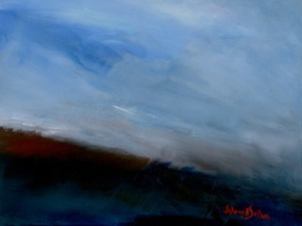 """Dusk"" Acrylic on canvas, 9 x 12 inches, Signed"