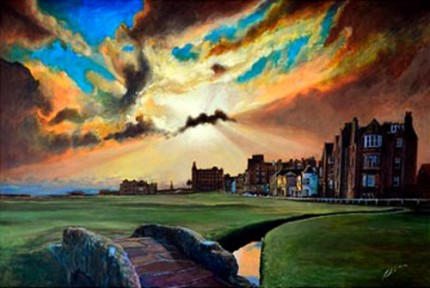 """St. Andrews 2010""Acrylic on canvas, 120 x 80 cm, Signed"