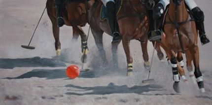 """Beach Ball, Acrylic on Deep Canvas, 48""""x24"""""""