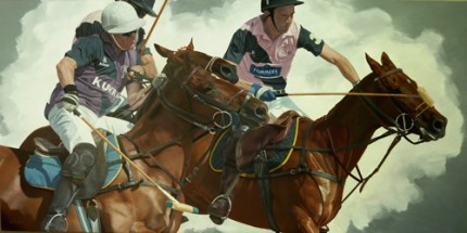 """Challenging the Line, Oil on Deep Canvas, 48""""x24"""""""