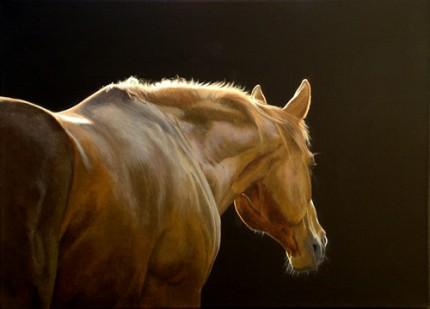 "Silhouette, Acrylic on Canvas, 16""x22"""