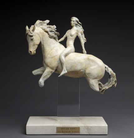 """""""Dream Ride"""" Bronze, Edition of 35, Plexiglas with granite base, 14 x 10 inches"""