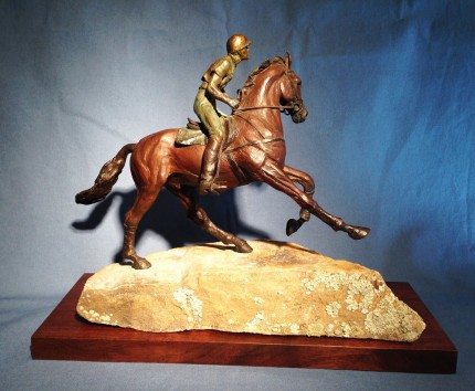 """Heads Up!"" Bronze, Edition of 15, 9 x 4 x 12.5 inches 