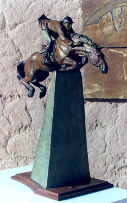 """Quantum Leap"" Bronze, Edition of 12, 23 x 17 x 8.5 inches"