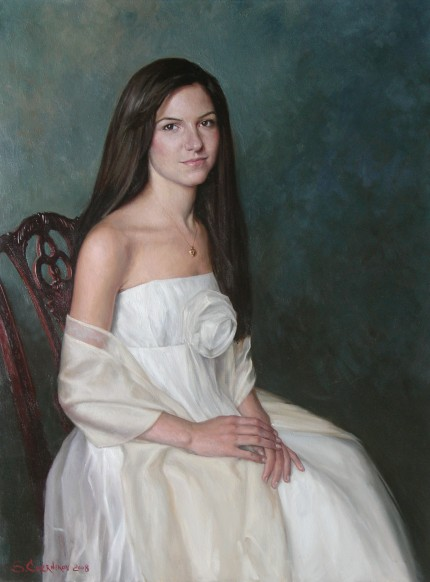 """Ciara C."" oil on canvas, 30 x 40 inches"