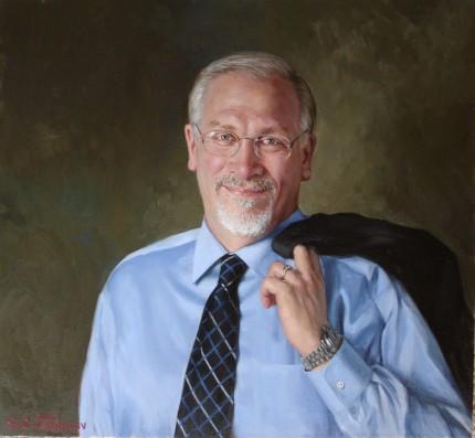 """Dean R. DeMillo"" oil on canvas, 22 x 28 inches"