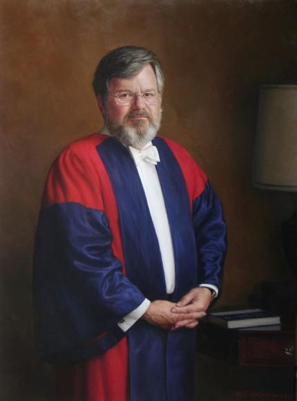 """Dr. W. Pratt"" oil on canvas, 30 x 40 inches"