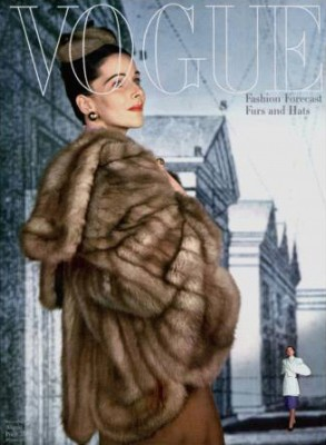 Bridget Bate Tichenor - Vogue Magazine Cover, August 1, 1945 - by John Rawlings