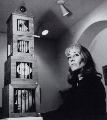 """Bridget Bate Tichenor with """"The Imprisoned"""" by Kati Horna"""