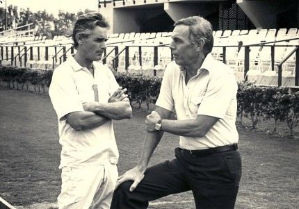 Hugh Jeremy Chisholm & William Townsend Ylvisaker at Palm Beach Polo & Country Club circa 1980