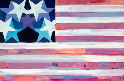 """New Flag 4"" Acrylic on wood, 24 x 36 inches"