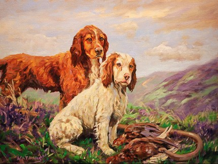 """""""Found In The Heather"""" Oil on canvas, 28 x 34 inches, Signed"""
