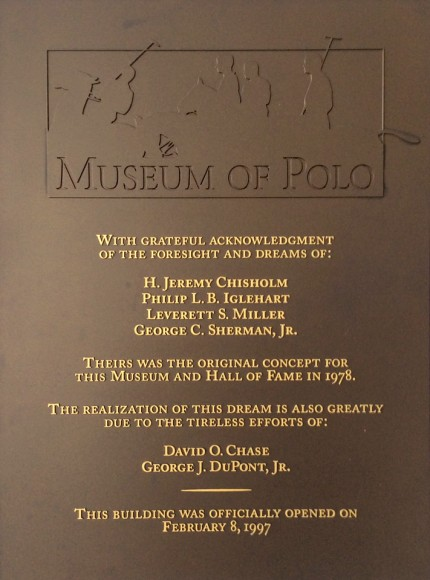 National Museum of Polo & Hall of Fame plaque