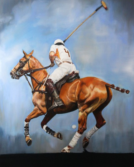 """""""Athletic Fusion"""" Oil on canvas, 60 x 48 inches, Signed lower right"""