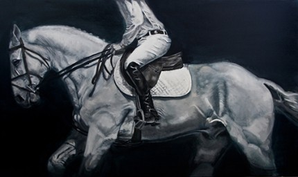 """""""Quintessence"""" Oil on canvas, 36 x 46 inches, Signed"""