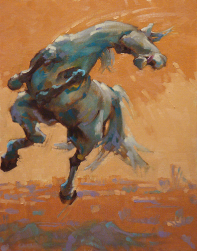 """Equine #1"" Oil on linen panel, 18 x 14 inches, Signed"