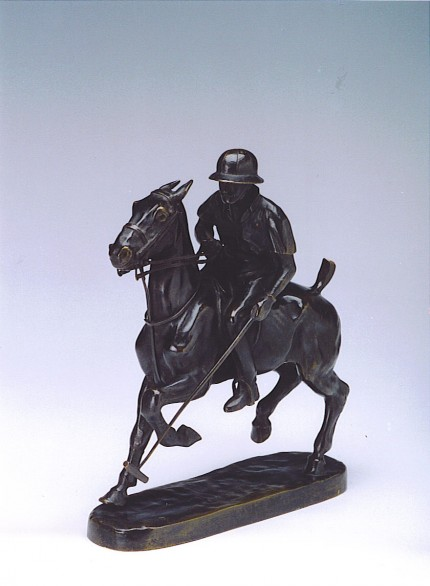 "Andre Guiet, French (1880 - 1969) ""Art Deco Polo Player"" Bronze, 10 x 9 inches, Signed & Numbered. Makers signature and FRANCE marked to the bronze base."