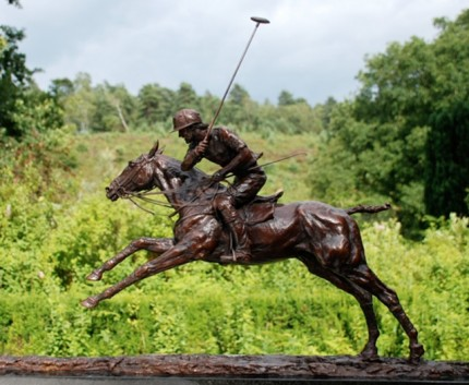 "Lorne McKean, British Contemporary ""Adolfo Cambiaso on Aiken Cura"" Bronze, Edition 17/25, 21 x 32 x 6 inches, Signed & Numbered"