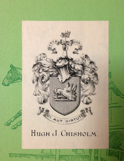 """We just acquired this amazing sporting library of Hugh J. Chisholm"" http://thecarycollection.tumblr.com/post/95286301065/we-just-acquired-this-amazing-sporting-library"