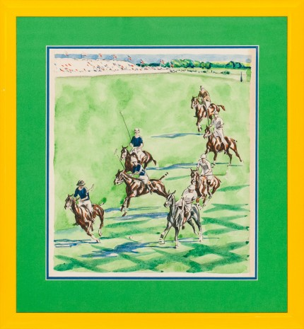 "Joseph Webster Golinkin, American (1896-1977) ""International Polo Match"" Coloured print, 12 x 10.5 inches"