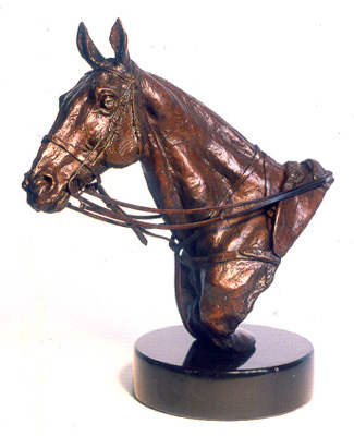 "Lorne McKean, British Contemporary ""Polo Pony Trophy"" Edition 4 of 27, Bronze, 7 ½ x 7 ½ x 4 inches, Signed and Numbered"