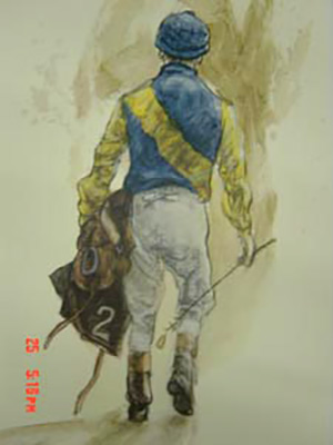 "Henry Koehler, American (b.1927) ""Michael G Phipps Silks"" Fleur de Lis Collection, Limited edition: 75/1500, 22 x 18 inches"