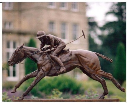 """Nearside Forehand"" Third life-size POLO bronze, 33 x 51 x 11 ½ inches, Base: 45 ½ x 9 ½ inches, Signed and Numbered"