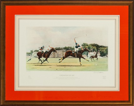 "Rod Skidmore, American Contemporary ""Coronation Cup 1987"" Signed lower right"