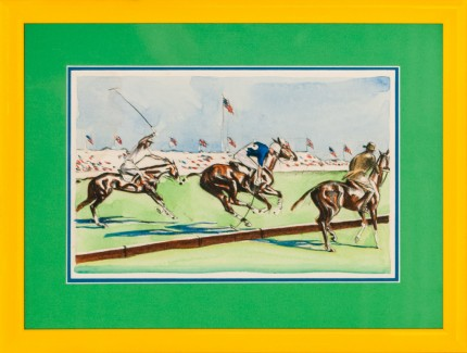"Joseph Webster Golinkin, American (1896-1977) ""International Polo Field Scene 3"" Coloured print, 8 x 11.25 inches"