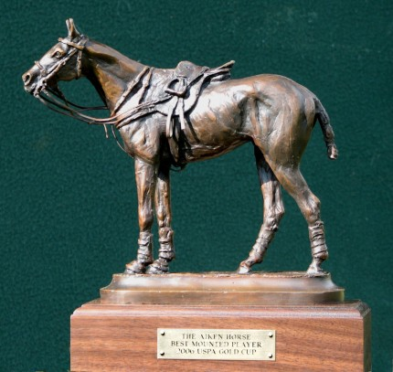 "Rich Roenisch, Canadian Contemporary ""Polo Pony III"" Bronze, Edition of 250, Signed & Numbered, The Aiken Horse Best Mounted Player 2006 USPA Gold Cup"