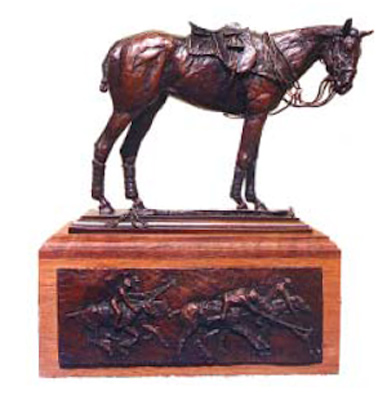 "Rich Roenisch, Canadian Contemporary ""Polo Pony Tribute"" Bronze, Edition of 35, 11 x 5 x 16 inches, Signed and Numbered"
