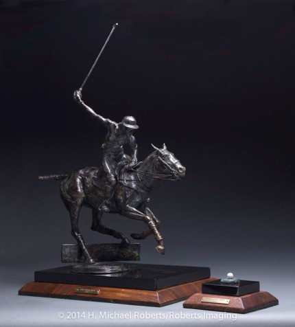 "Gerald Anthony Shippen, American Contemporary ""The Lady Polo Player"" Bronze, 21 x 23 x 10 inches, Edition: 2/10, Signed & Numbered"