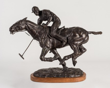 "Tom Holland, American (1917-2004) ""Polo, 1973"" Bronze, Edition: 13/25, 14 x 17 x 7 inches, Signed, Dated & Numbered"