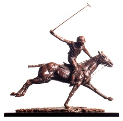 "Lorne McKean, British Contemoprary ""Going for Goal"" Edition 8 of 25, Bronze, 20 x 18 x 4 ¾ inches, Signed and Numbered. Awarded The British Art Trust Prize for Best Sculpture 2007."