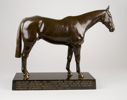 """""""The Chaser Sergeant Murphy"""" 1959, Bronze, Rich chocolate-brown patina, 10 x 13 inches, Signed & Dated"""